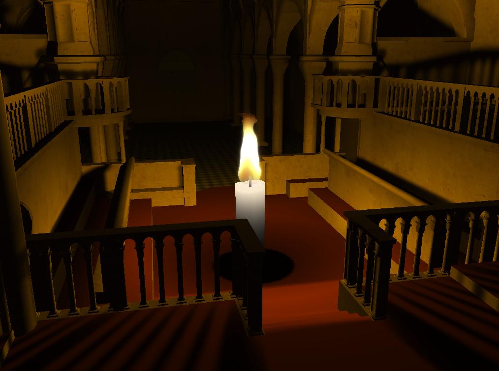 Simulation de flammes interactives en temps réel